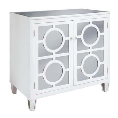 Storage Furniture - Crestview Mirrored 2 Door Cabinet | Wayfair .