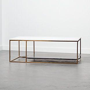 2 Tone Grey and White Marble Coffee Table (Görüntüler ile) | Bron