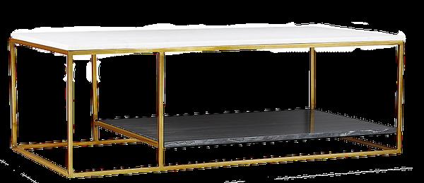 2 Tone Grey and White Marble Coffee Table | Decori