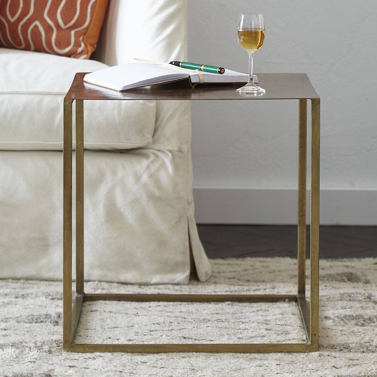 Aged Iron Cube Tables