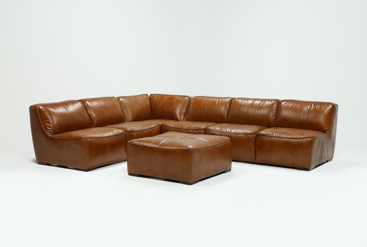 Burton Leather 3 Piece Sectionals