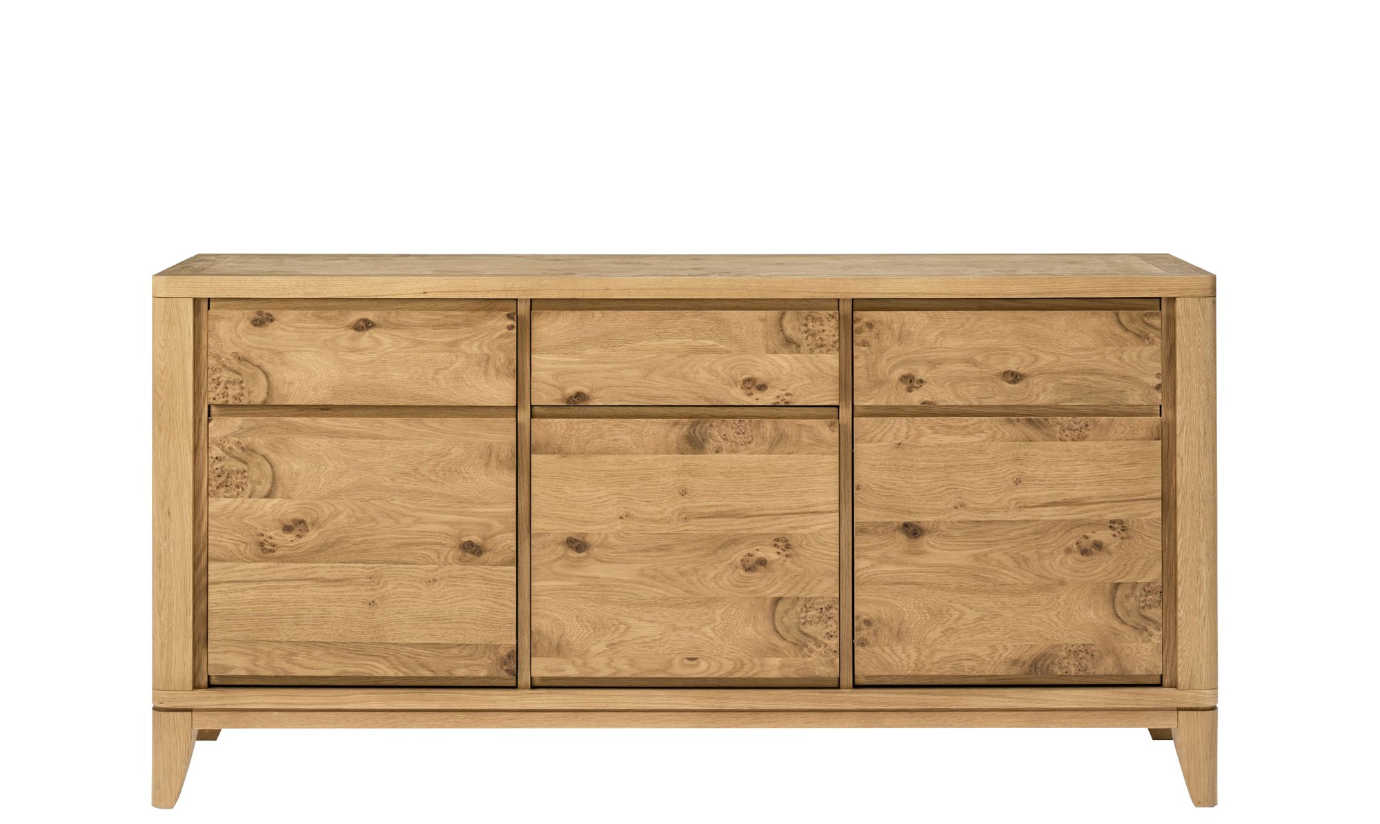 Dark Smoked Oak With White Marble Top Sideboards
