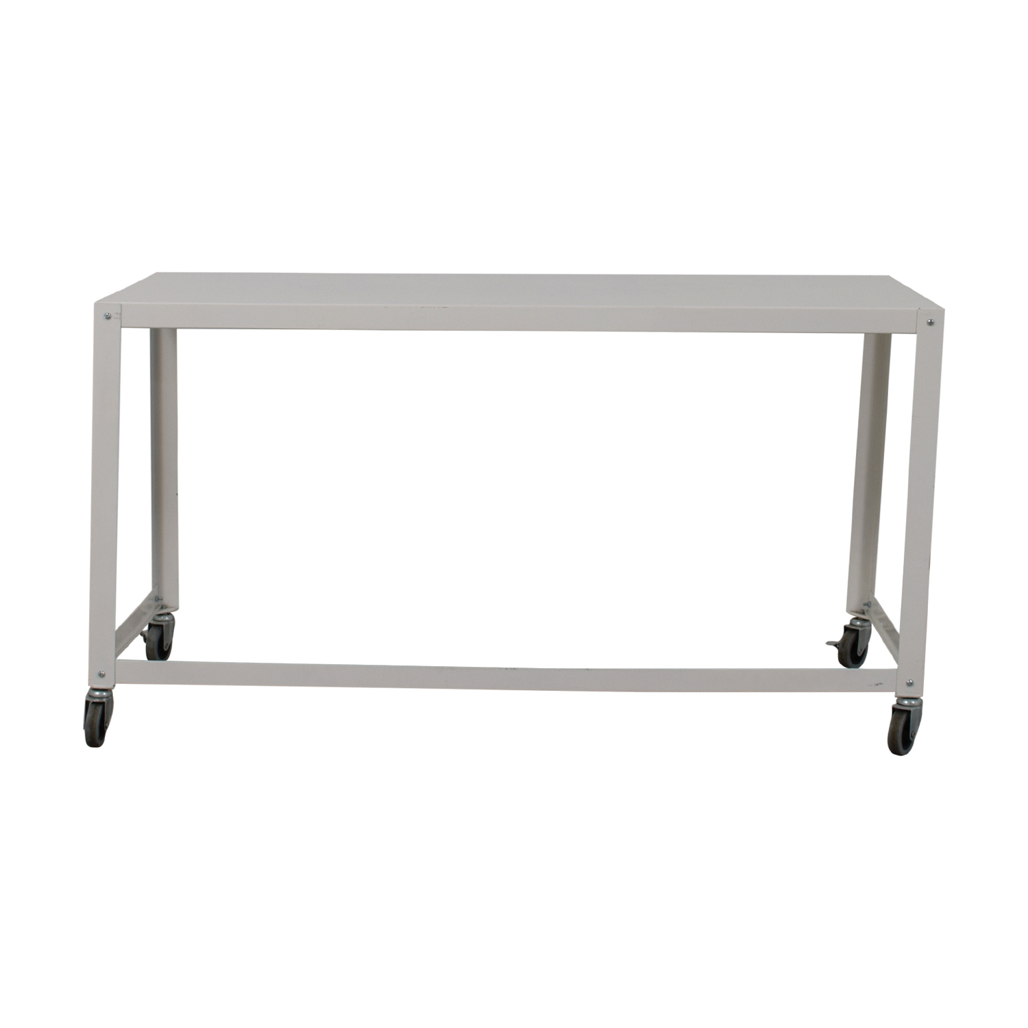 Go Cart White Rolling Coffee Tables