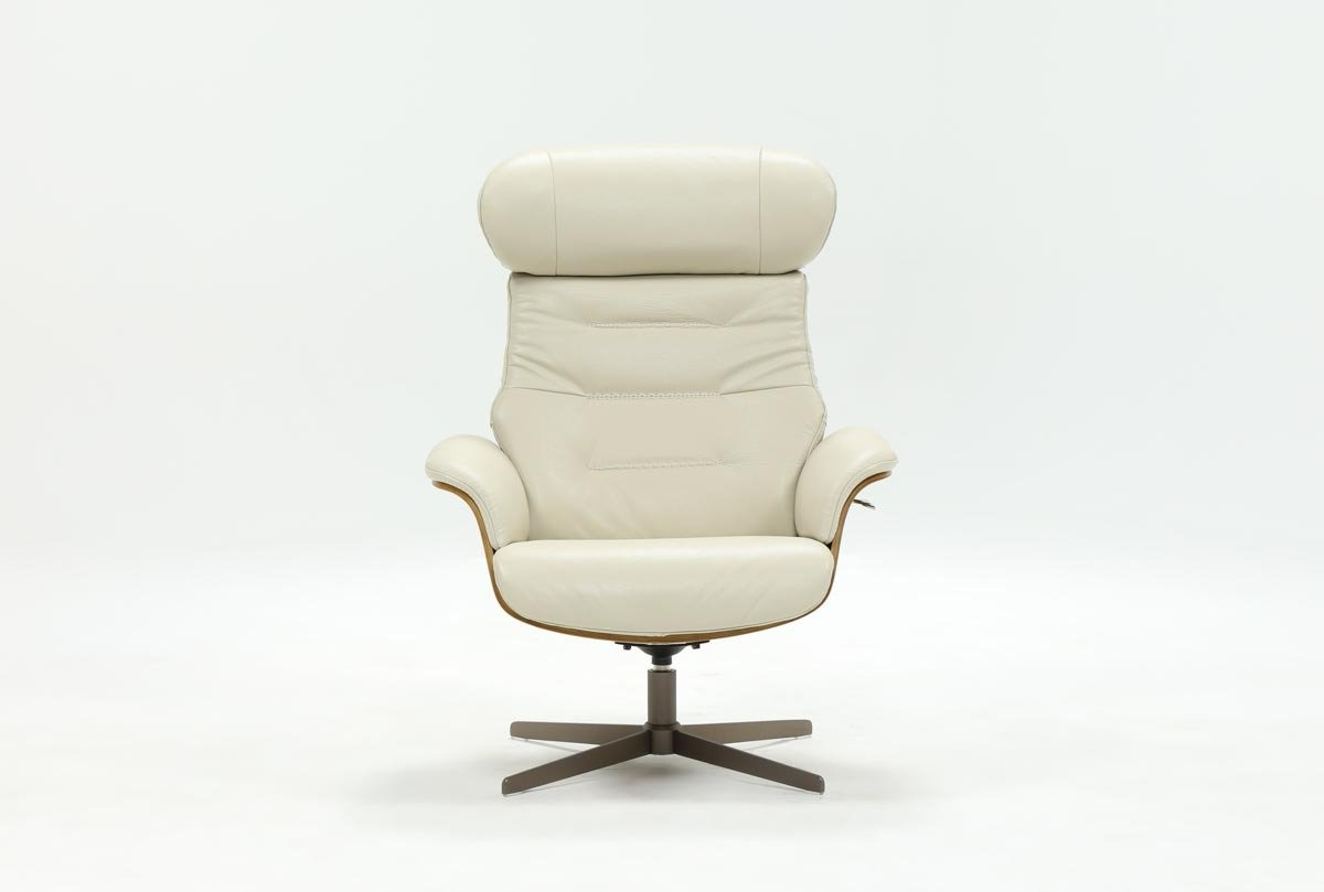 Amala Bone Leather Reclining Swivel Chairs