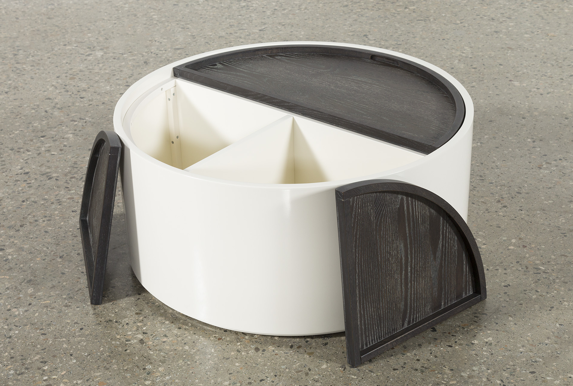 Bale Rustic Grey Round Cocktail Tables With Storage