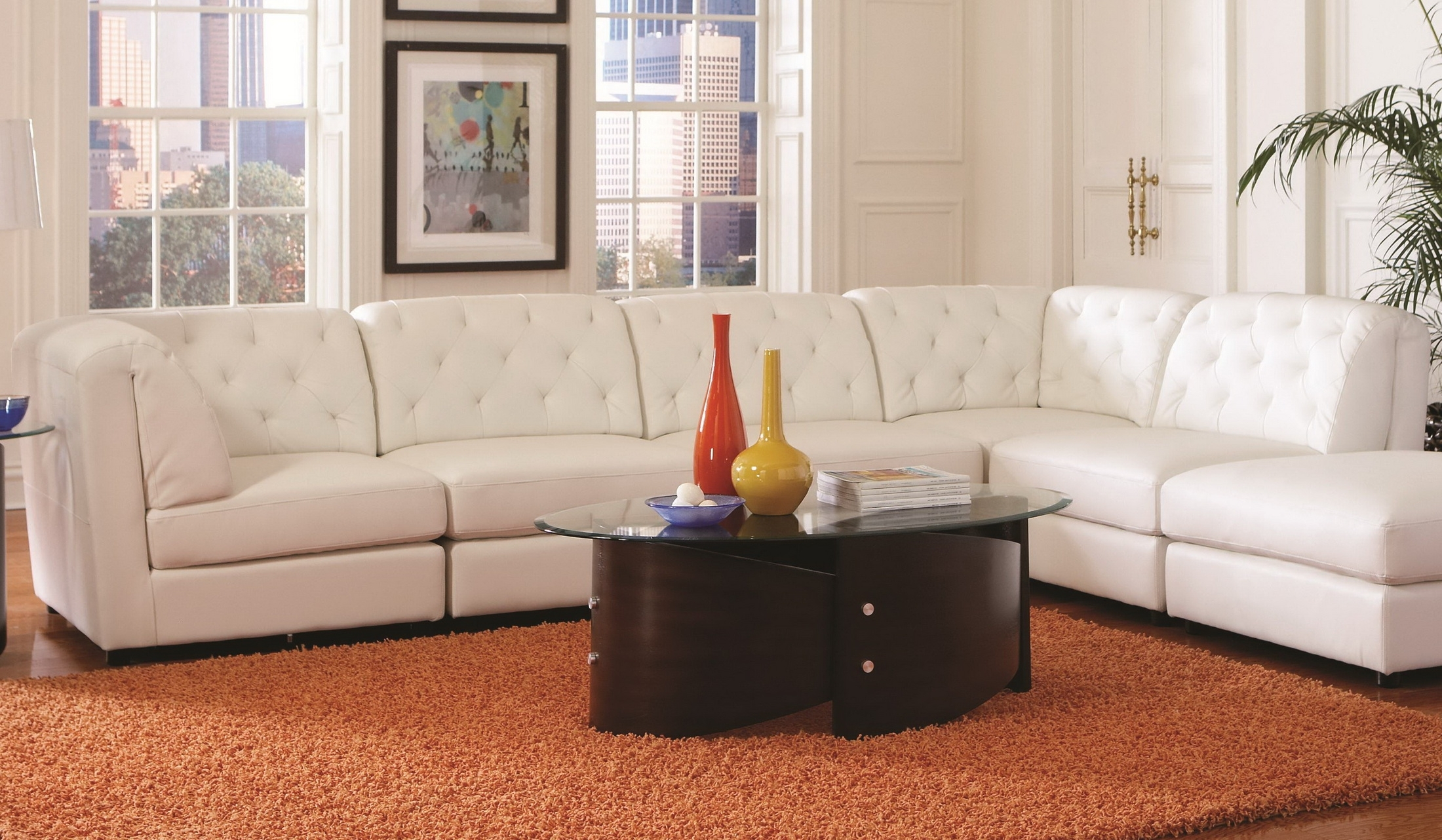 Leather Modular Sectional Sofas