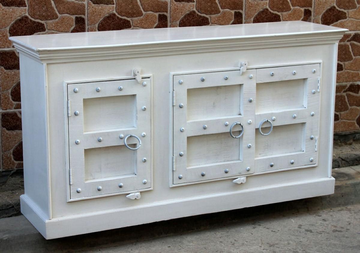 White Wash Carved Door Jumbo Sideboards