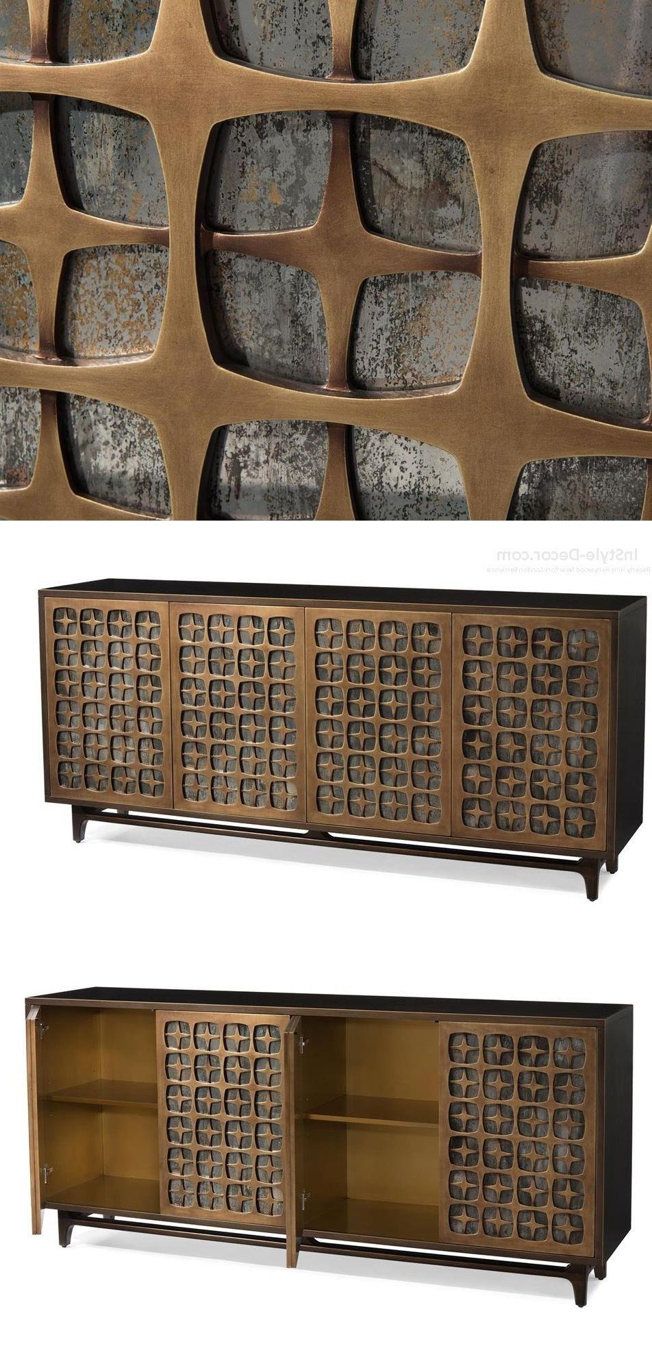 2 Door 2 Drawer Cast Jali Sideboards