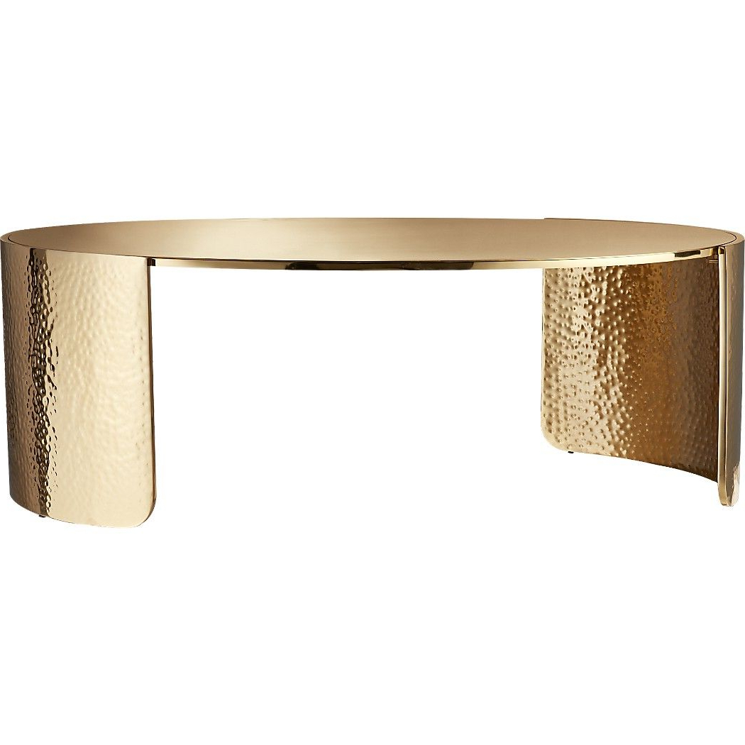 Cuff Hammered Gold Coffee Tables