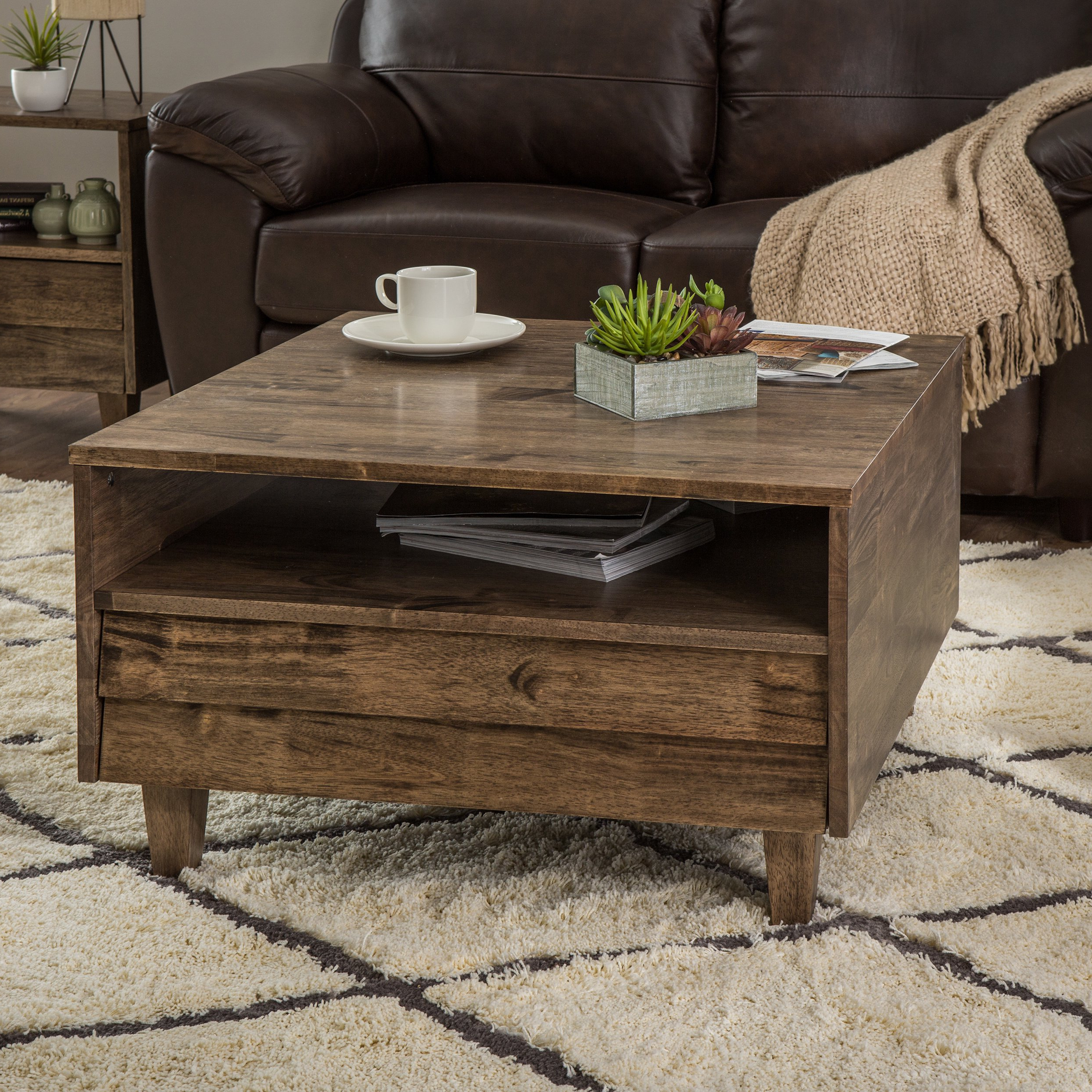 Natural 2 Drawer Shutter Coffee Tables