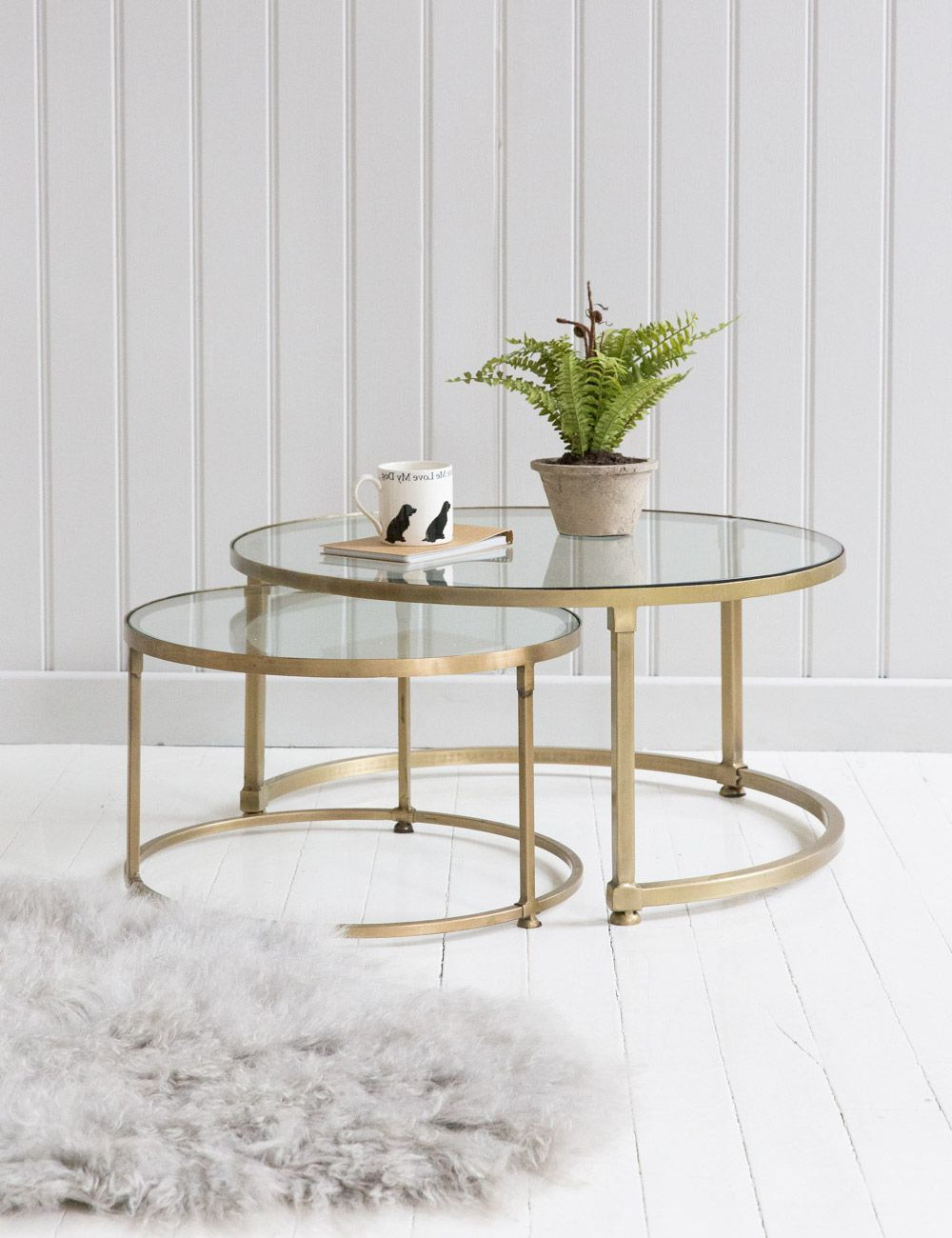 Stack Hi Gloss Wood Coffee Tables