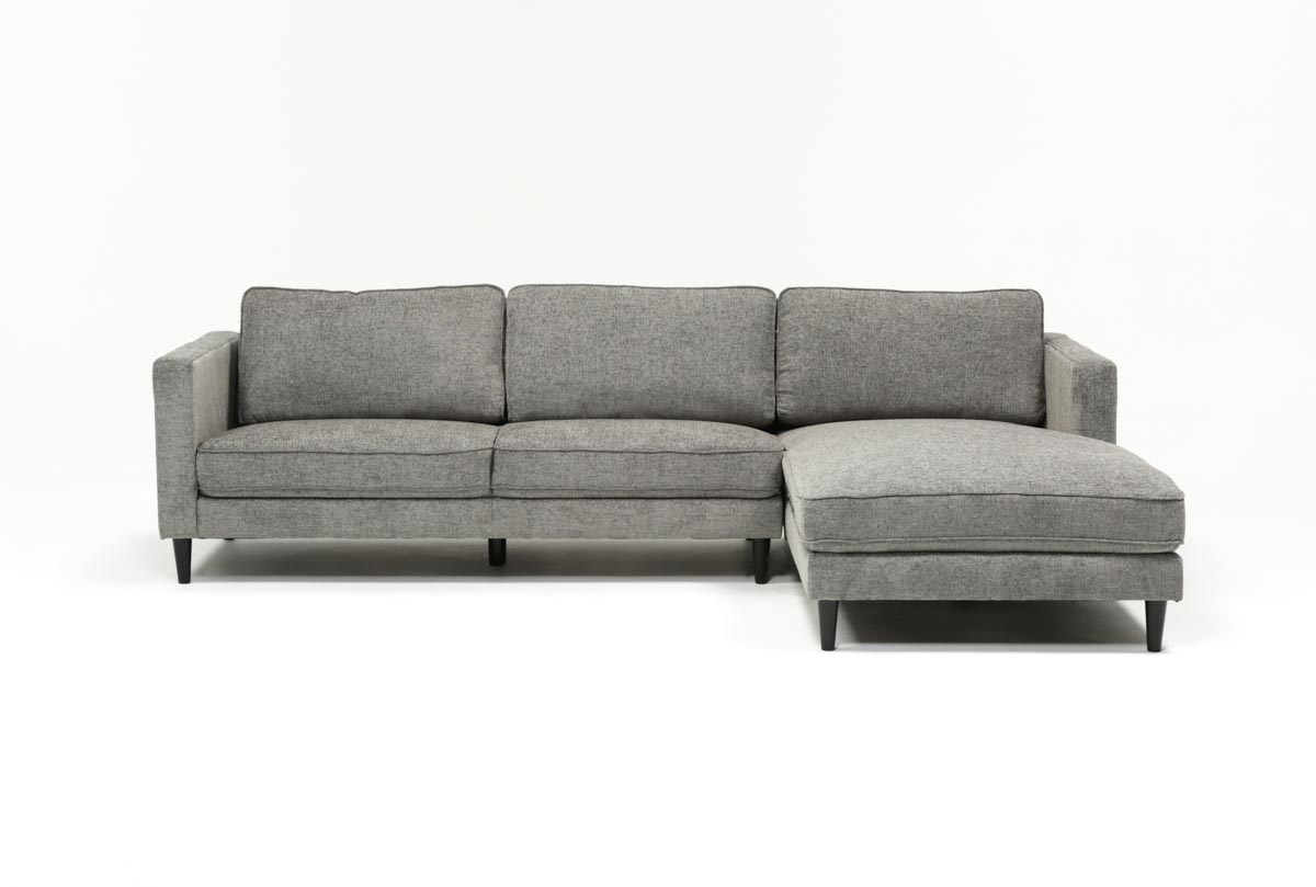 Cosmos Grey 2 Piece Sectionals With Raf Chaise