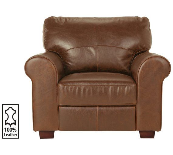 Buy Argos Home Salisbury Leather Armchair - Tan | Armchairs and .