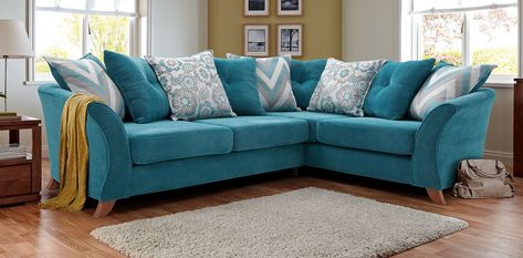 This striking & colourful Ruby corner sofa will liven up any .