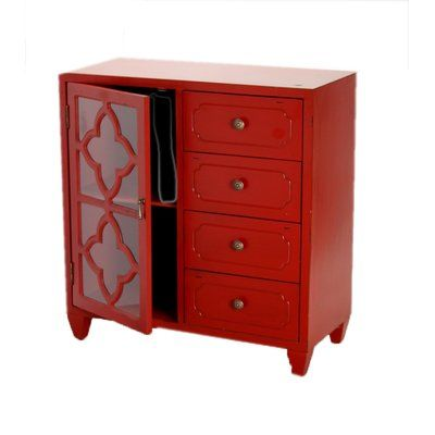 World Menagerie Lelon 1 Door 4 Drawer Server | Accent chests .