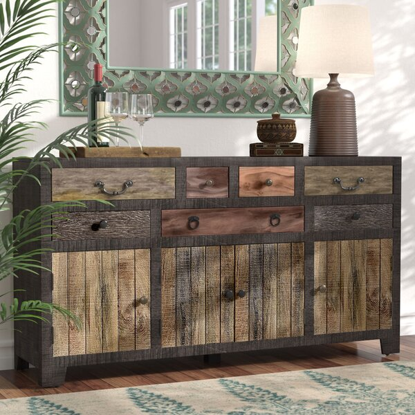 World Menagerie Moultry 7 Drawer 4 Door Sideboard & Reviews | Wayfa