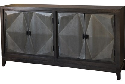 3D Galvanized 4 Door Sideboard | Living Spac