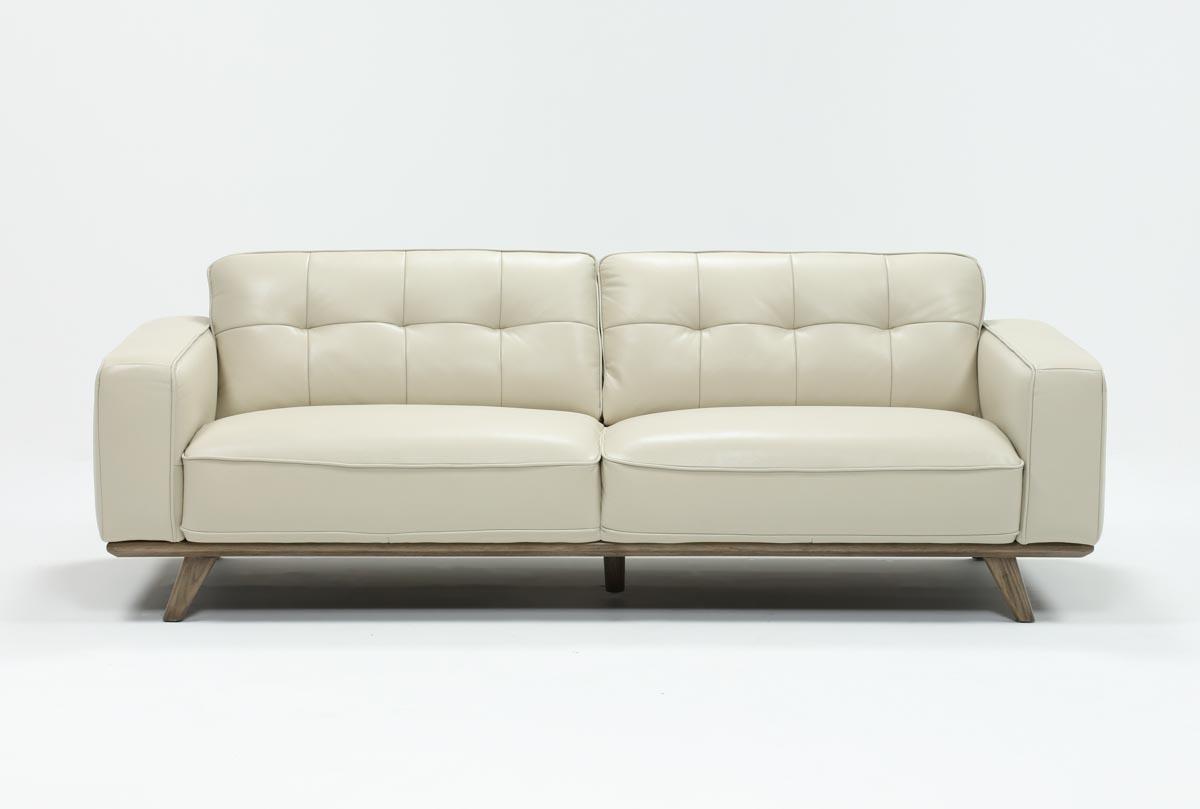 Caressa Leather Dove Grey Sofa Chairs