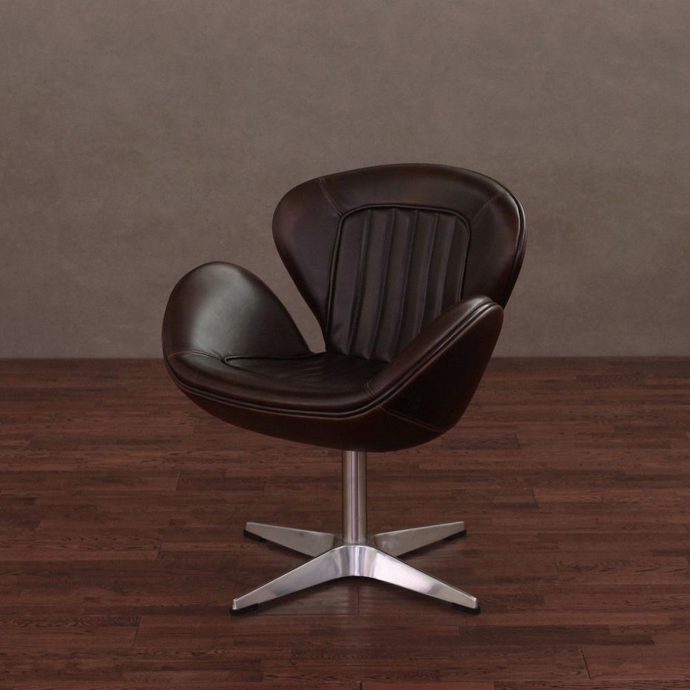 Swivel Tobacco Leather Chairs