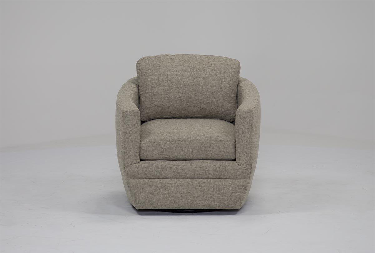 Chadwick Tomato Swivel Accent Chairs