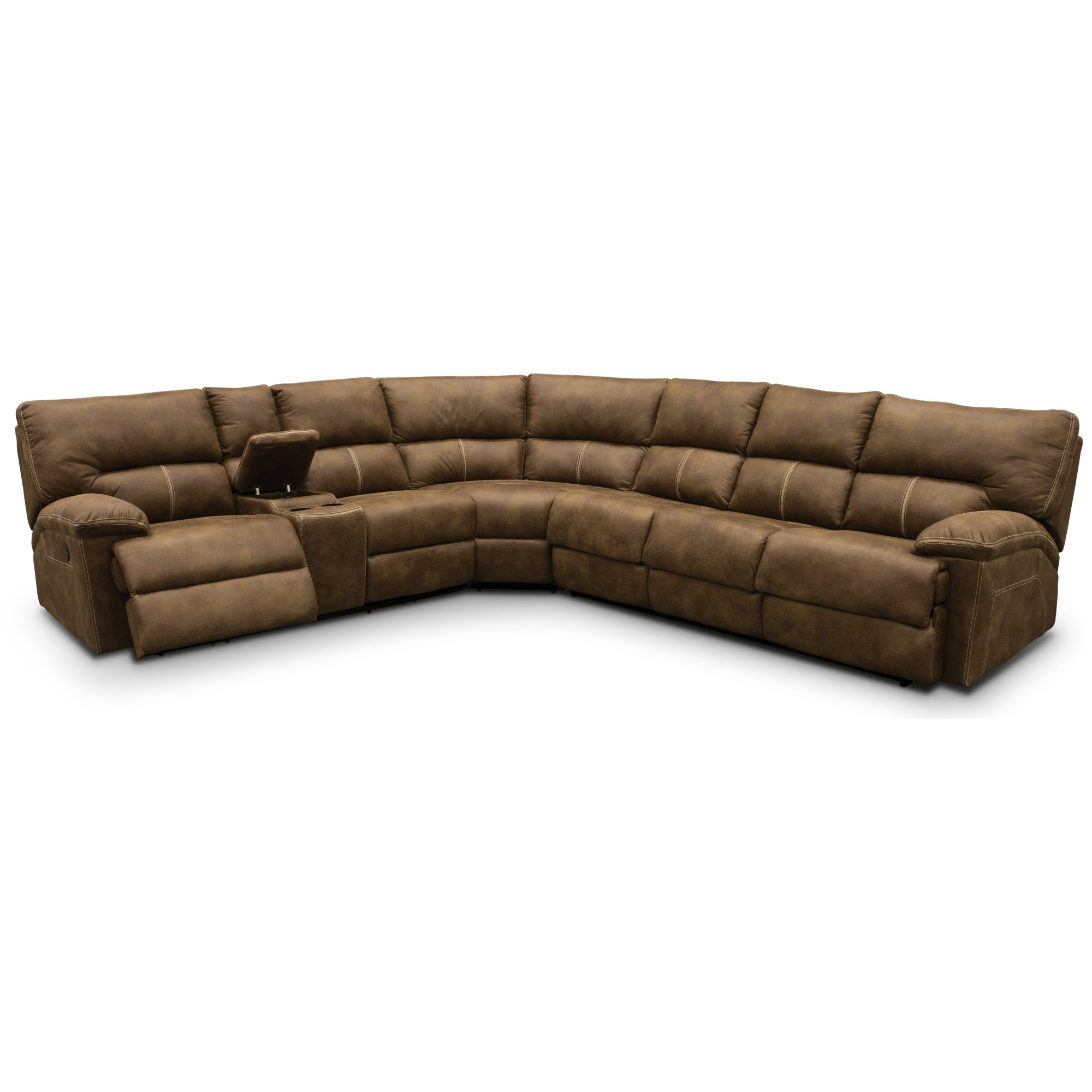 Taron 3 Piece Power Reclining Sectionals With Right Facing Console   Loveseat