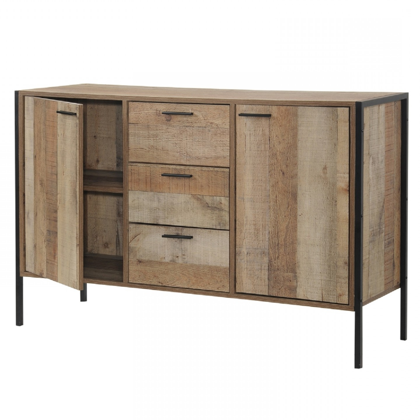Industrial 3 Drawer 3 Door Sideboards