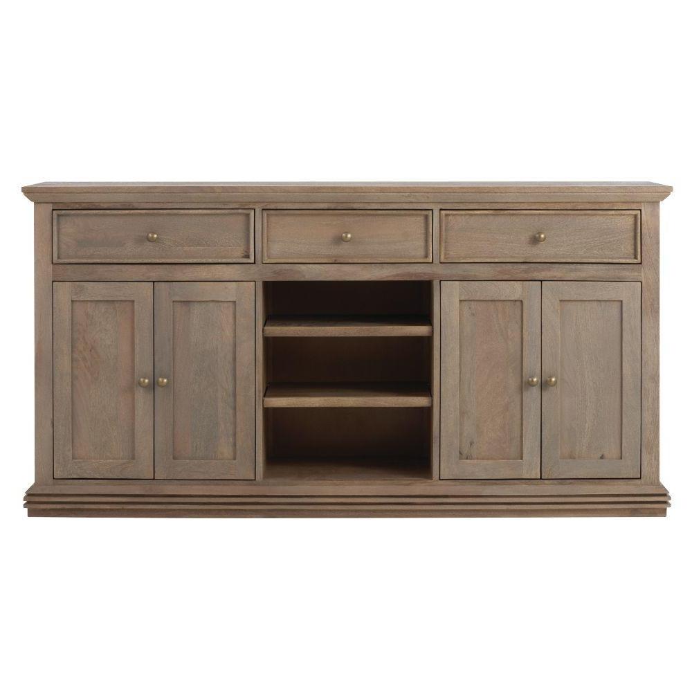 Open Shelf Brass 4 Drawer Sideboards