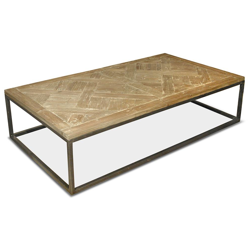 Reclaimed Pine Iron Coffee Tables
