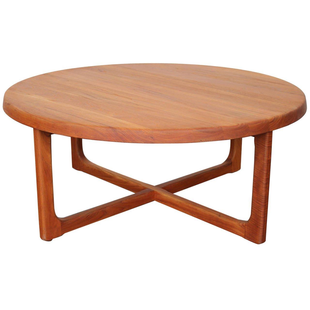 Round Teak Coffee Tables