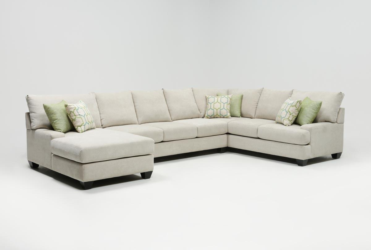 Harper Foam 3 Piece Sectionals With Raf Chaise