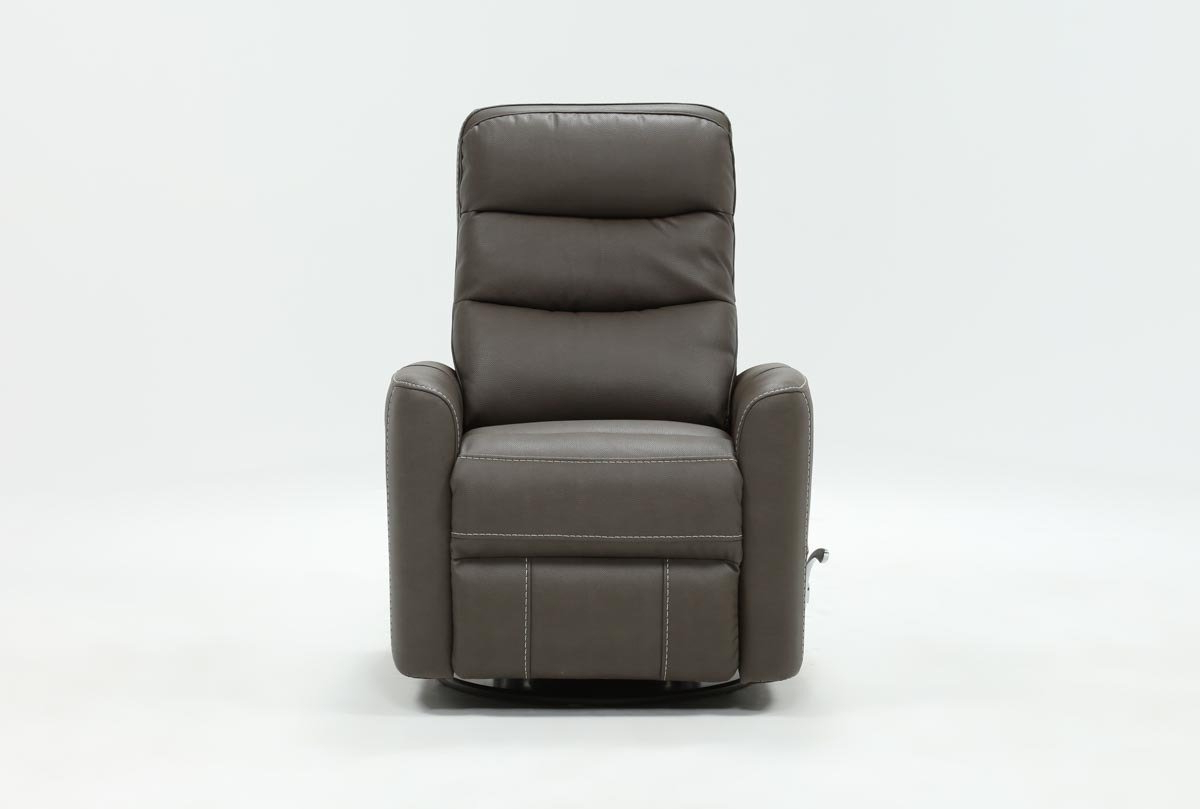 Hercules Grey Swivel Glider Recliners