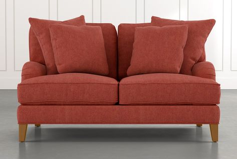Abigail II Red Loveseat | Love seat, Diy chair, Furnitu