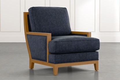 Abigail II Navy Blue Accent Chair | Living Spac