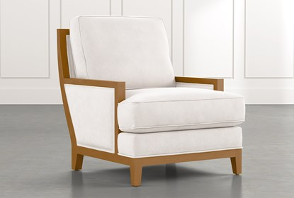 Abigail II White Accent Chair | Living Spac