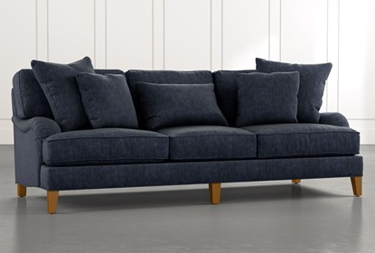 Abigail II Navy Blue Sofa | Living Spac
