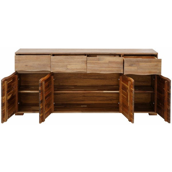 Shop Surf Sideboard with 4 Doors and 4 Drawers, Acacia Wood .