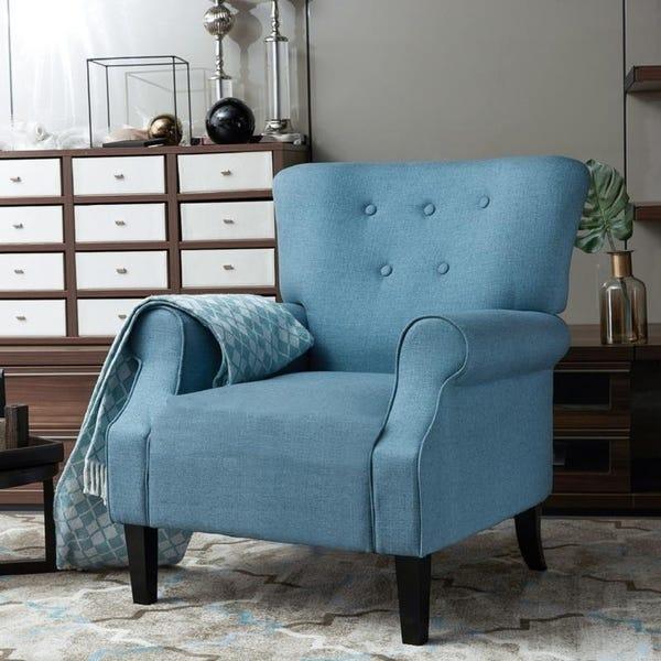 Shop LOKATSE Indoor Accent Sofa Chair - Greece Style - Overstock .