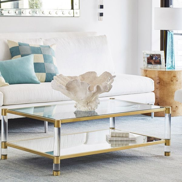 Acrylic, Glass and Brass coffee table | Wisteria (With images .