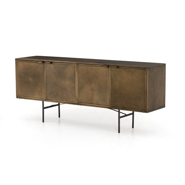 Sunburst Sideboard-Aged Brass | Four Hands Look Book (With images .