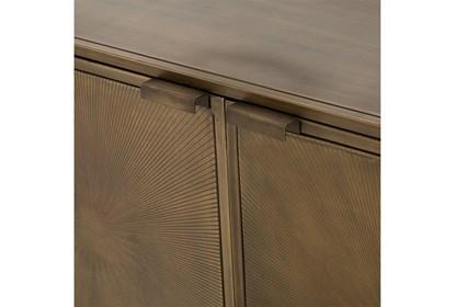 Aged Brass Sunburst Etched Aged Brass/Gunmetal Sideboard | Living .