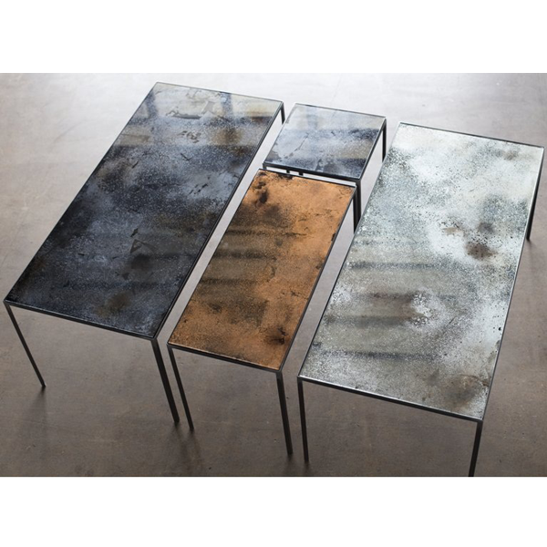 Notre Monde | Charcoal Patchwork coffee table - 20711 - Heavy aged .