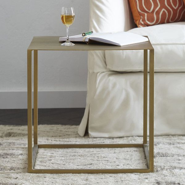Brass Iron Cube Table | Cube table, Living room side table, Furnitu
