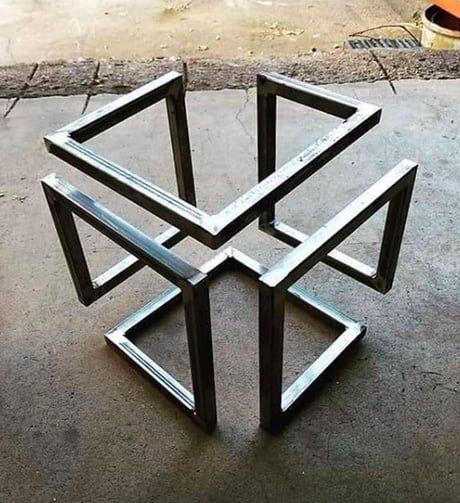 Infinity cube | Welding art, Metal furniture, Welding projec