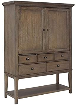 Amazon.com - Beaumont Lane 2 Door Mirrored Back Bar Cabinet in .