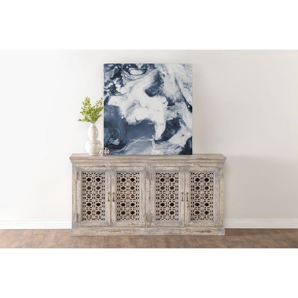 Shop Hepburn Antiqued White 4-Door Sideboard by Kosas Home - On .