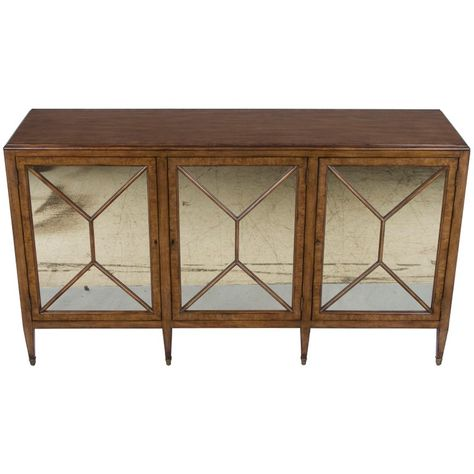 1stdibs Credenza - Light Distressed Buffet Sideboard Antiqued .