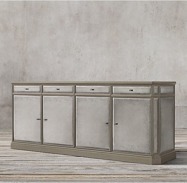 1930s French Mirrored 4-Door Sideboard | French mirror, Glass .