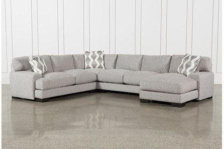 Aidan 4 Piece Sectional | Sectional, Fabric sectional sofas .