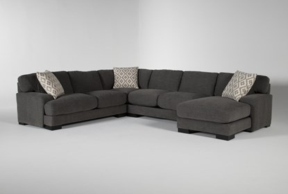 Aidan IV 4 Piece Sectional With Right Arm Facing Chaise | Living .
