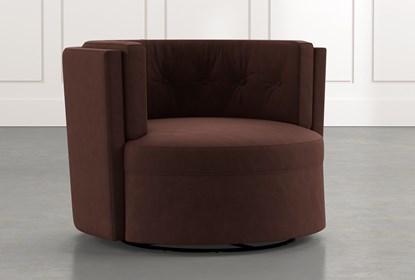 Aidan II Brown Swivel Accent Chair | Living Spac